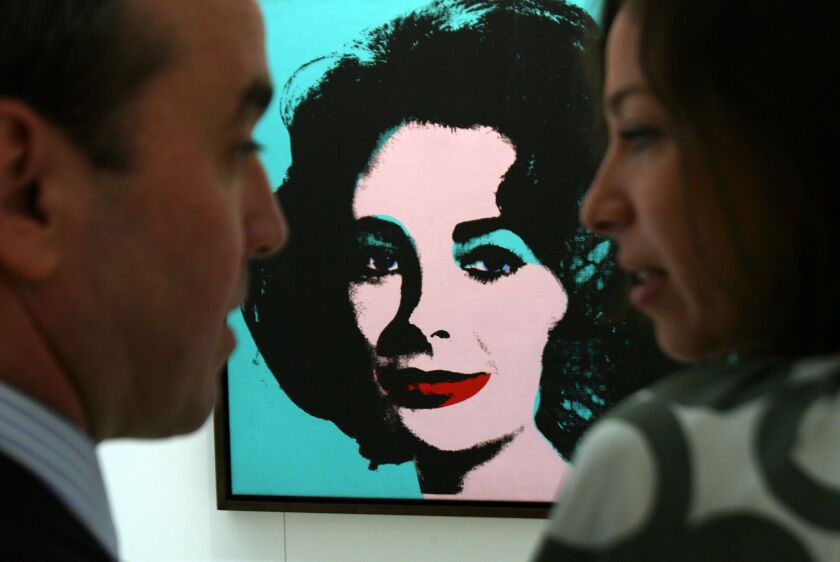 """""""Liz (Colored Liz)"""" by Andy Warhol, from 1963, was valued in excess of $25 million at the new Christie's exhibition space in London, U.K. in  2007."""
