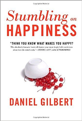 Book cover - Stumbling on Happiness