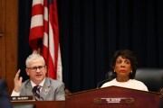 Rep. Patrick McHenry, R-N.C., the top Republican on the House Financial Services Committee with Chairman Maxine Waters, D-Calif.