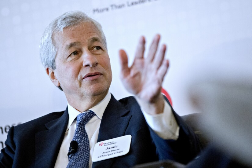 Jamie Dimon, CEO of JPMorgan Chase, speaks during a Business Roundtable in Washington, D.C., on June 7, 2017 BLOOMBERG NEWS