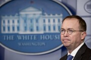 Mick Mulvaney, director of OMB and acting CFPB director