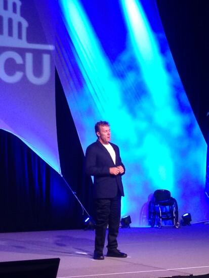 John Maclean standing  at NAFCU 50th annual meeting - CUJ 062017.JPG